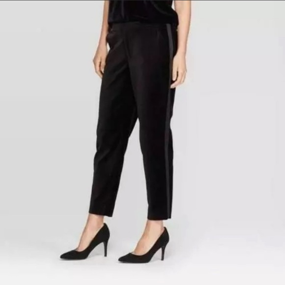 A New Day stretch ankle velvet pants